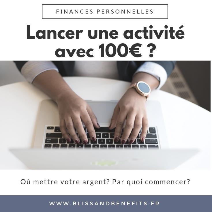 lancer son business 100€